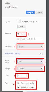 Cara Print Info GTK Secara Utuh