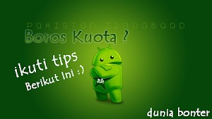 Tips menghemat kuota internet