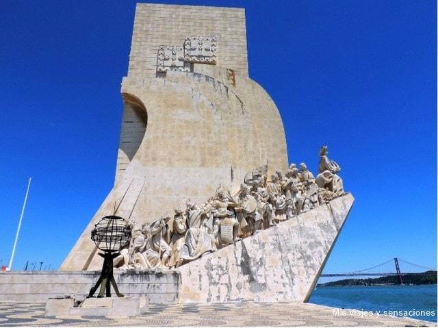 Monumento a los descubrimientos, barrio de Belém, Lisboa