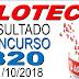 Resultado da Loteca concurso 820 (01/10/2018)