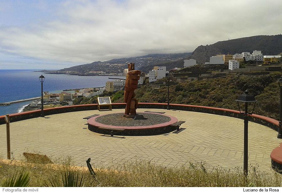 Mirador astronómico Barranco del Carmen en La Palma (Islas Canarias).