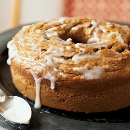 Pumpkin Pound Cake With Buttermilk Glaze