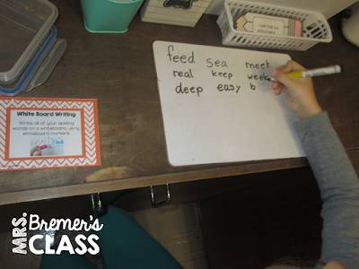 TONS of fun word work and spelling activities for literacy learning in First Grade and Second Grade. This post is packed with fun ideas to help students practice their spelling words. The activities are hands on and engaging! Perfect for use during Daily 5. #1stgrade #2ndgrade #Daily5 #spelling #wordwork #literacy #literacycenters