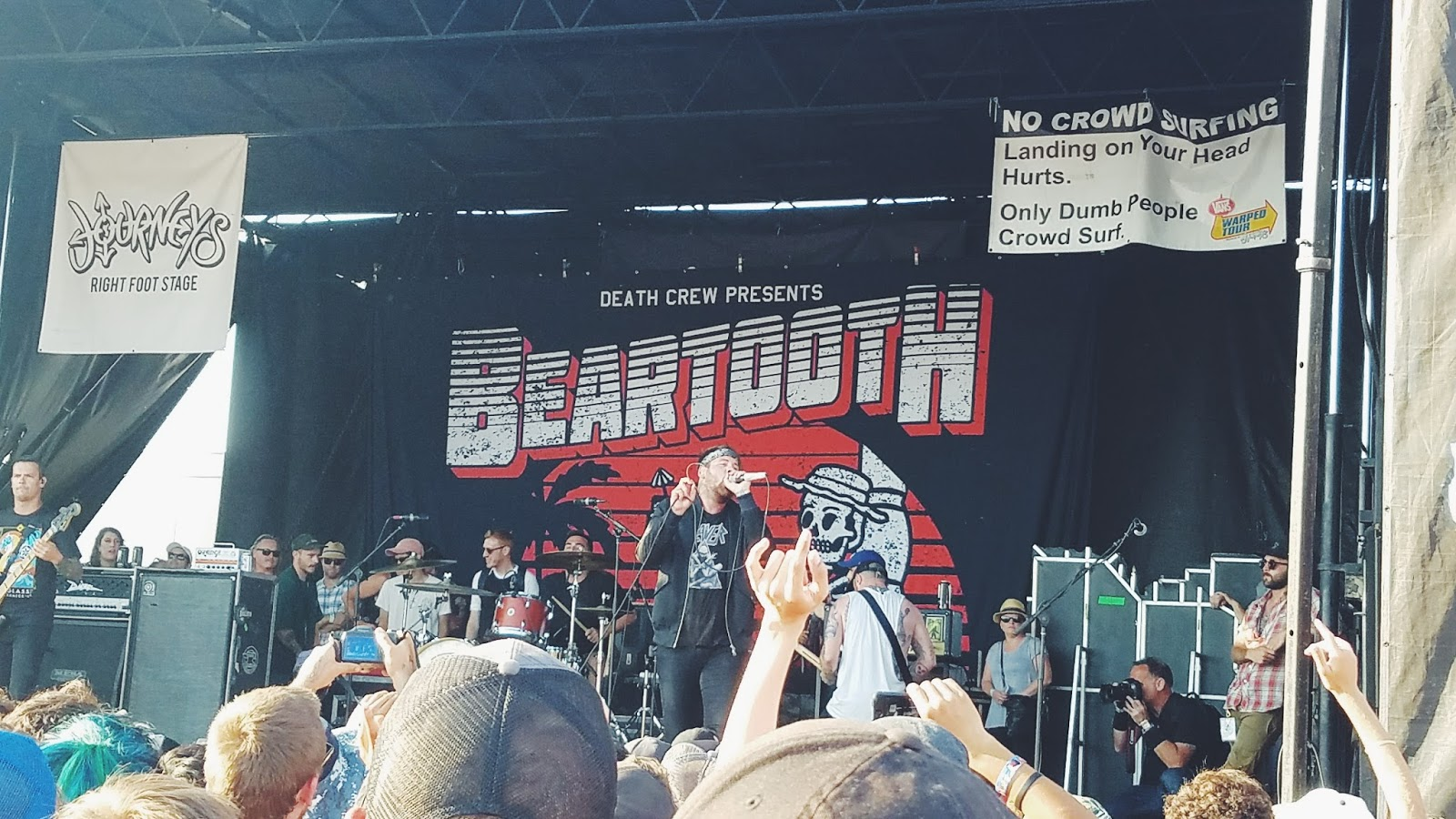 Courtney Tomesch Vans Warped Tour 2017 San Diego California Beartooth
