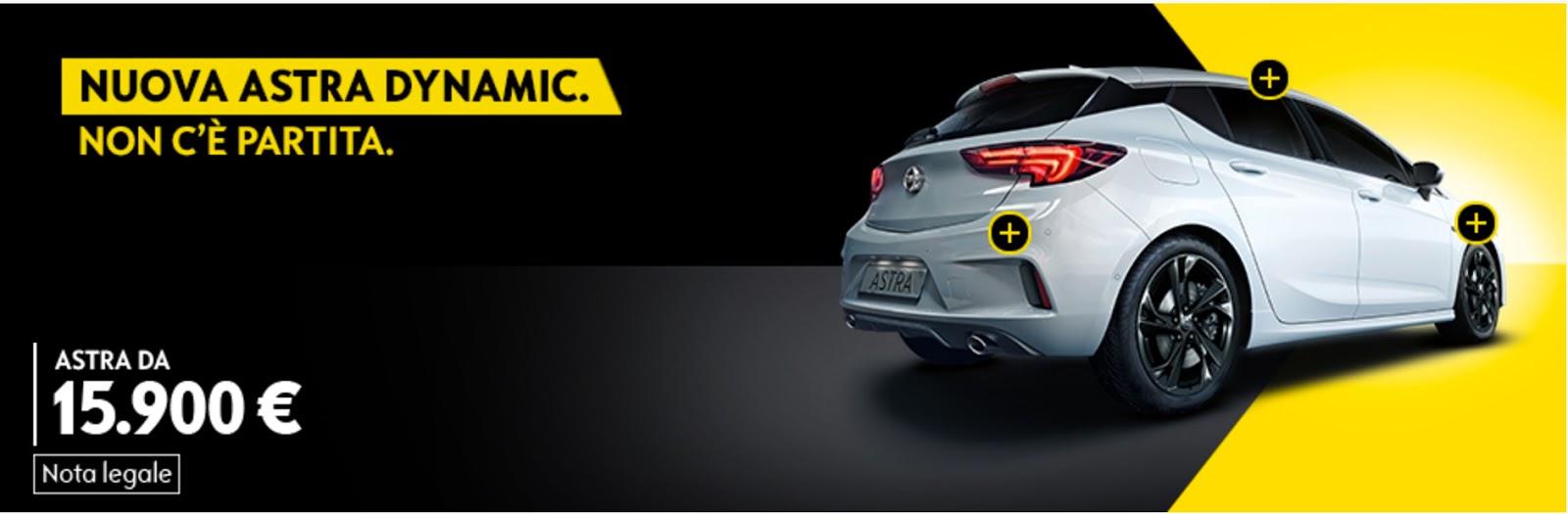 Opel Astra Dynamic: offerta Marzo 2017 - Info promozione