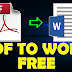 Convert PDF to a word document?