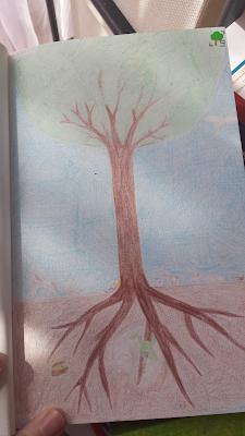 drzewo kosmiczne - rysunek