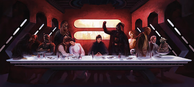 The Star Wars Last Supper by Eric Deschamp for Giant Magazine