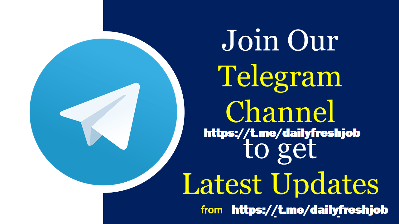 Join Telegram Channel for Jobs