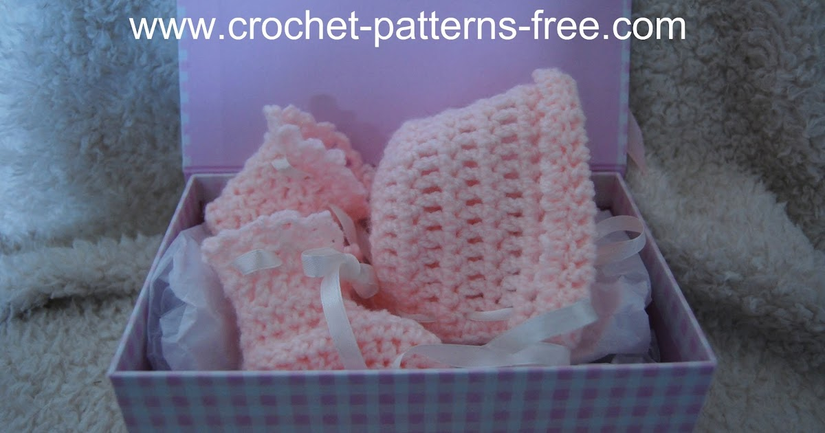 Free Easy Crochet Pattern for Basic Baby Booties and Bonnet (New ...