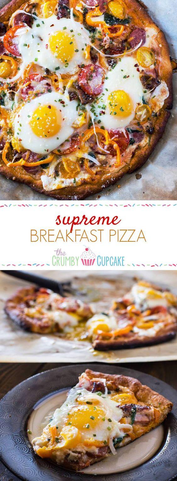 Supreme Breakfast Pizza