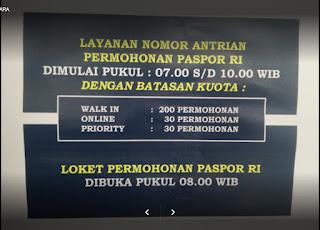 Nomor Antrian Kantor Imigrasi Jakarta Utara