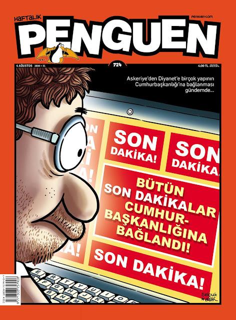 Penguen Dergisi - 4 Ağustos 2016 Kapak Karikatürü