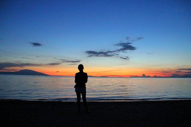 sunset in calatagan, batangas