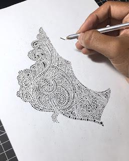c2b64989f5 Ele trabalha com motivos em paisley e também nas artes tradicionais da  Índia. Seus trabalhos estão disponíveis para venda no Etsy. Simplesmente  lindos.