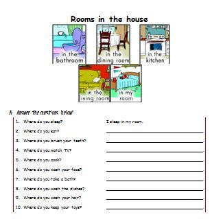 Materi Bahasa Inggris untuk Anak Level 1 (Usia 7 - 9 Tahun): Rooms in the House (Ruangan di dalam Rumah)