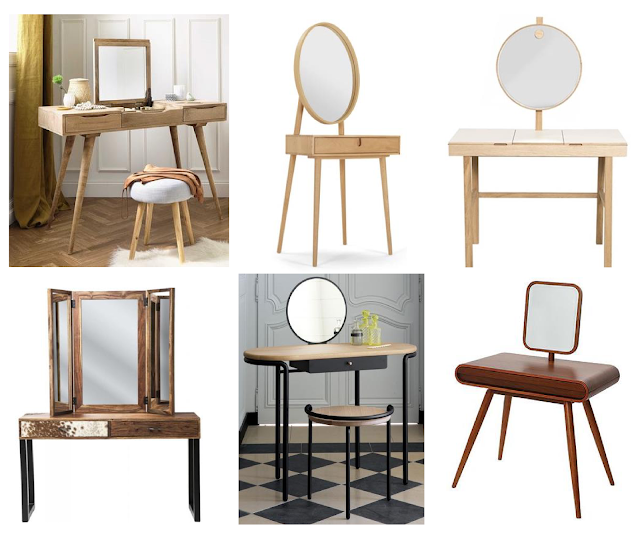 planche inspiration coiffeuses mobilier