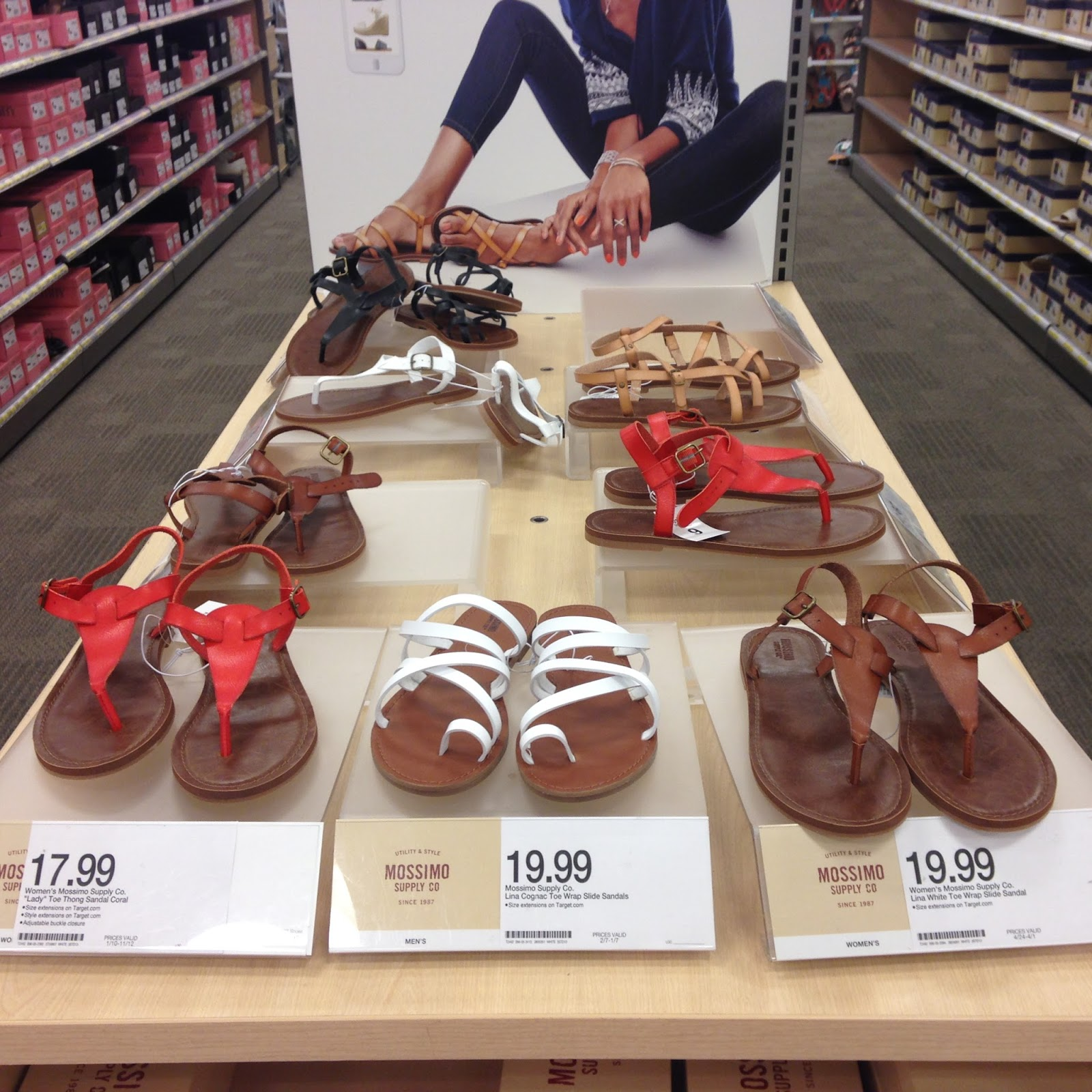 b69582dda6b17b Tracy s Notebook of Style  Target BOGO Sale  Store Pics of NEW Sandals!