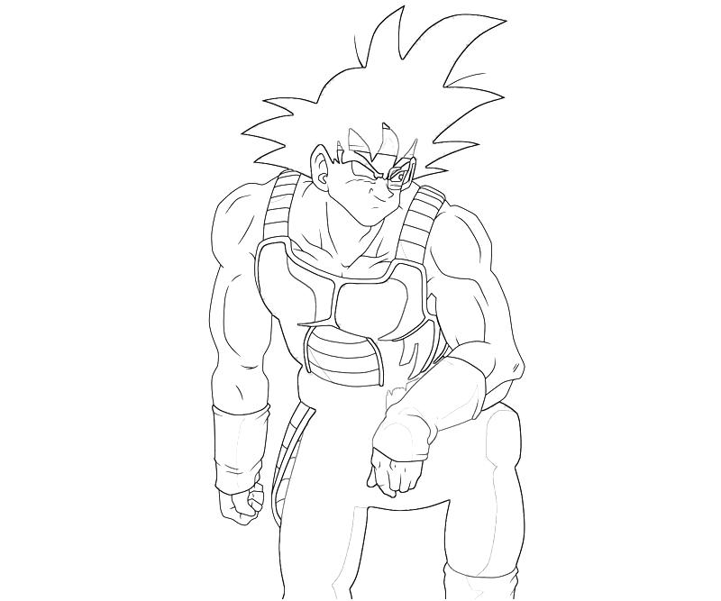 Bardock Drawing Coloring Pages
