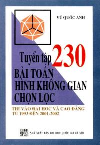 Tuyển Tập 230 Bài Toán Hình Học Không Gian Chọn Lọc