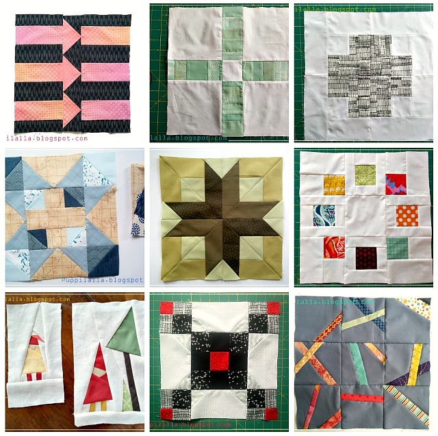 Quilting Bee, Bee Blocks, free blocks, Puppilalla, quilting, BOM, Patchwork