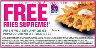 Taco Bell coupons december 2016