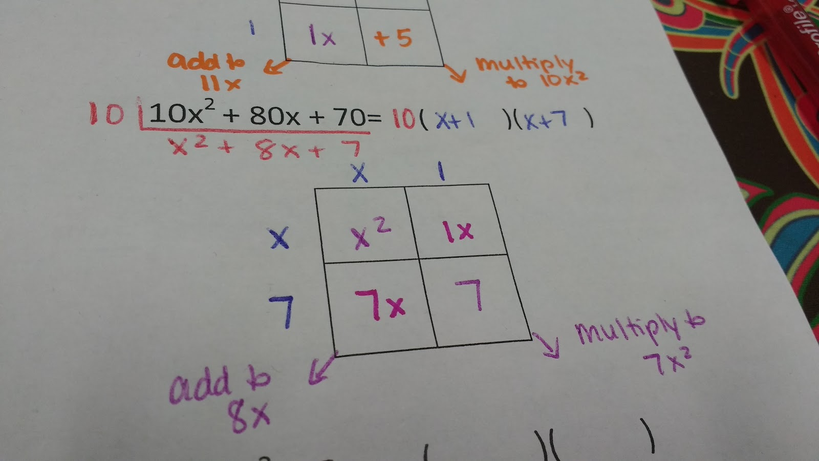 Math Love Step By Step Directions For Factoring