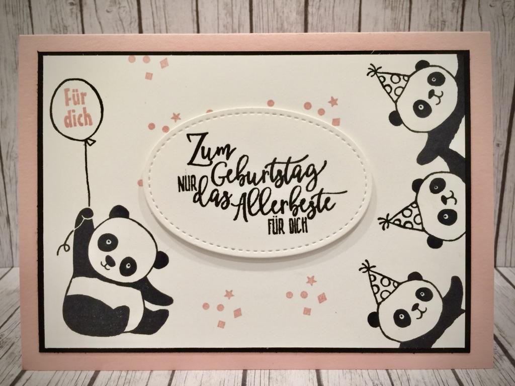 stempeln macht gl cklich die pandas sind los. Black Bedroom Furniture Sets. Home Design Ideas