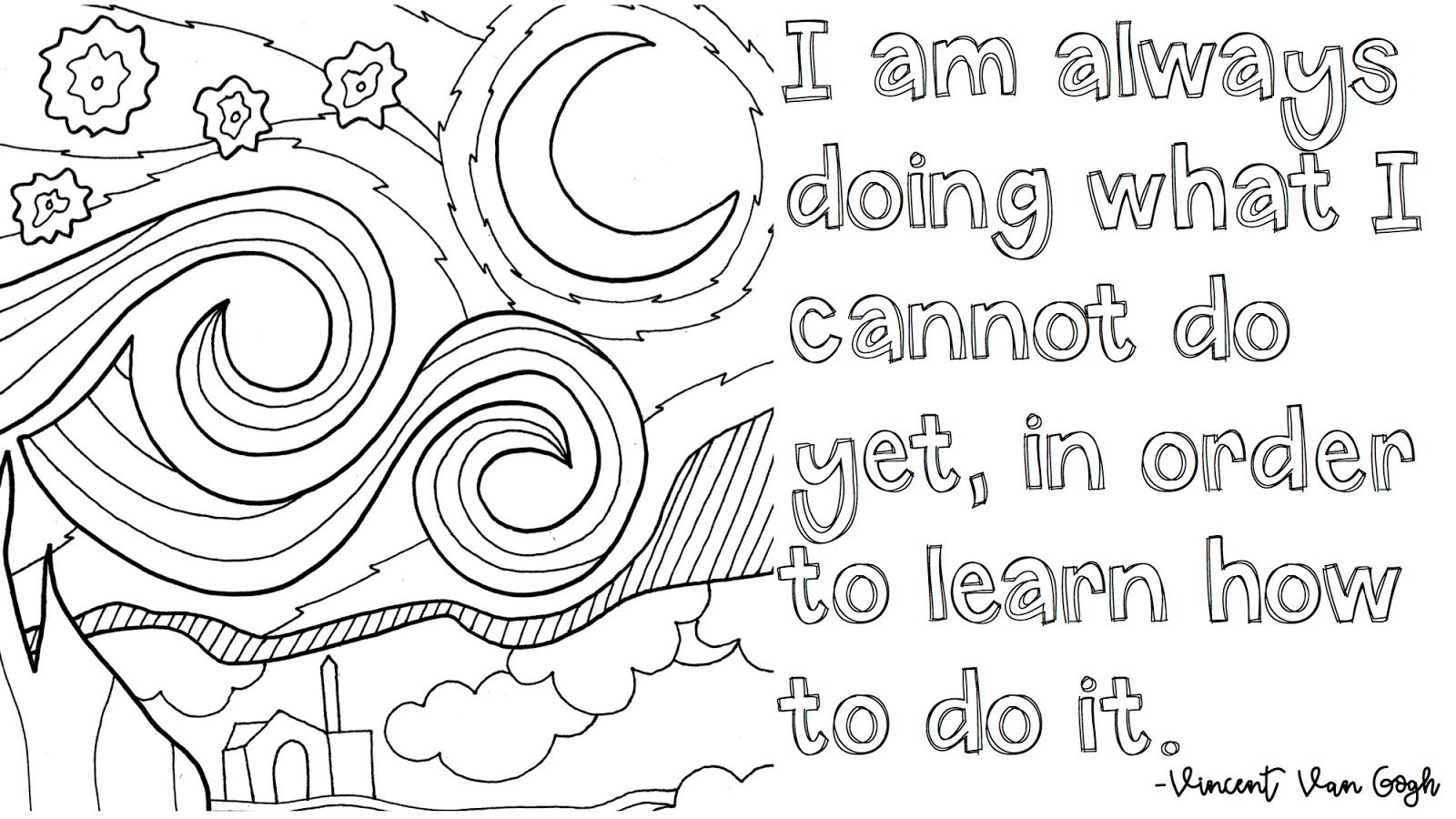 One Of My Favorite Places To Download Coloring Pages Is From Doodle Art Alley So I Did A Little Powerpoint Magic And Made Few Quote Posters