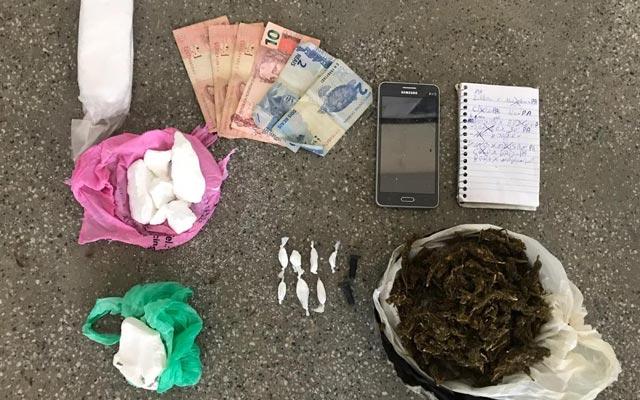Rondesp Norte prende traficante a apreende drogas em Miguel Calmon