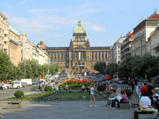 Wenceslas Square New Town Prague Czech Republic