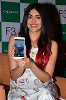 Bollywood Actress Adah Sharma Pos in White Printed Short Dress at OPPO F3 Plus Selfie Expert Mobile Launch .COM 0025.jpg