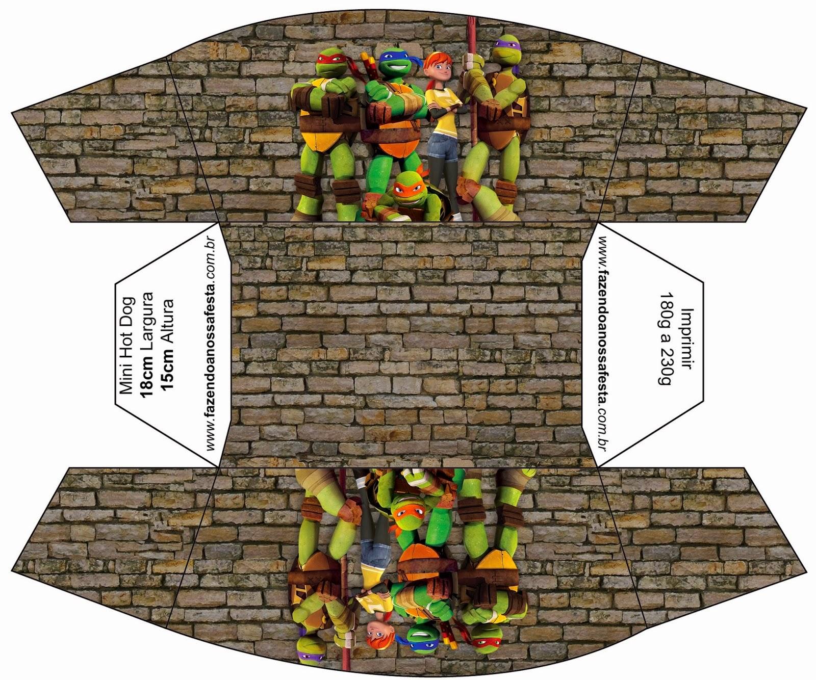 Tortugas Ninja Cajas Para Imprimir Gratis