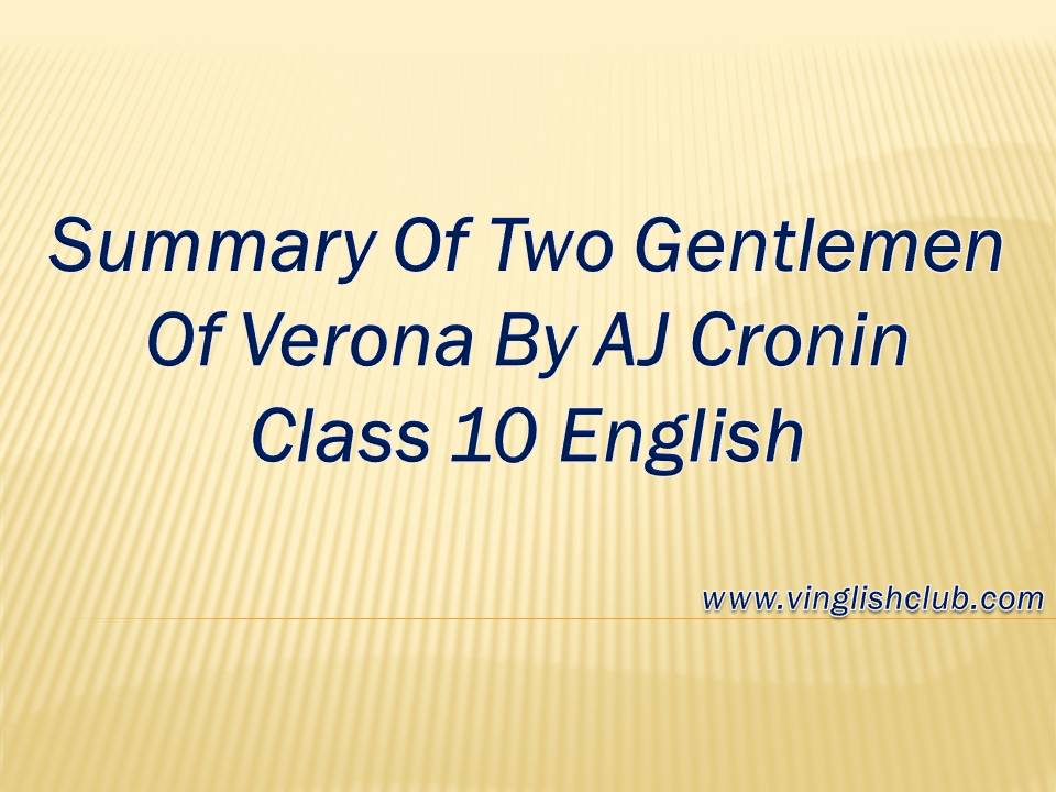summary of two gentlemen of verona