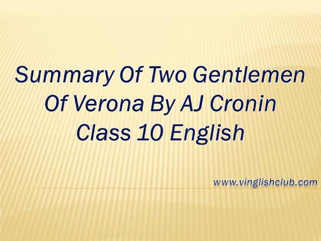 Short-Story-Of-Two-Gentlemen-Of-Verona-By-AJ-Cronin