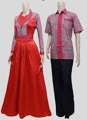 Pakaian Batik Couple Blouse Modern