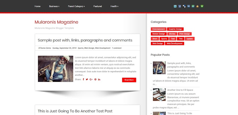 Mularonis Free Blogger Template