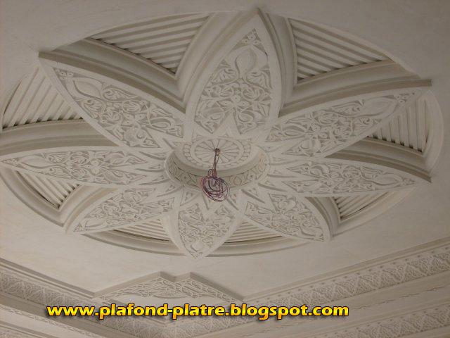 Plafond Platre Sculpte Marocain Faux Plafond Platre Suspendu Et Tendu
