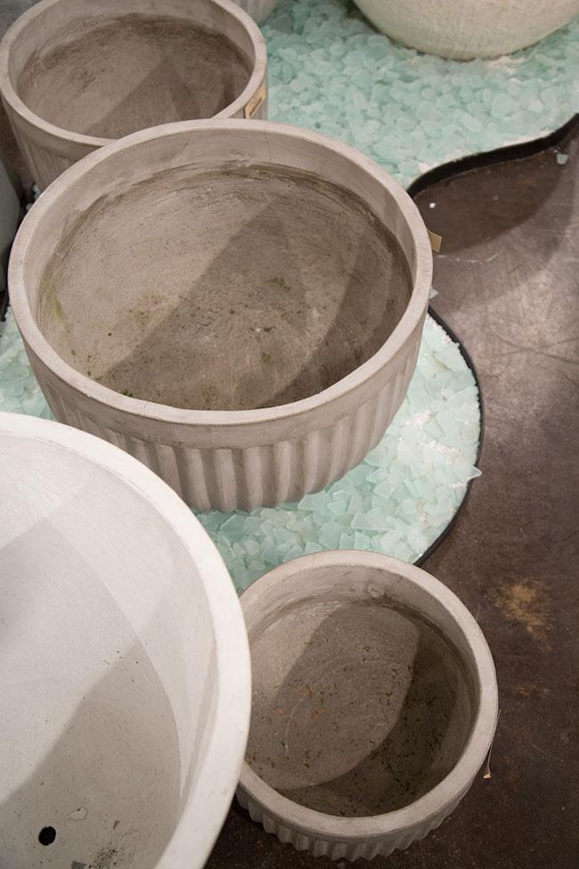Design Idea - use sea glass instead of gravel - from Accent Decor