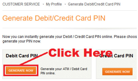 how to generate icici debit card pin through internet banking