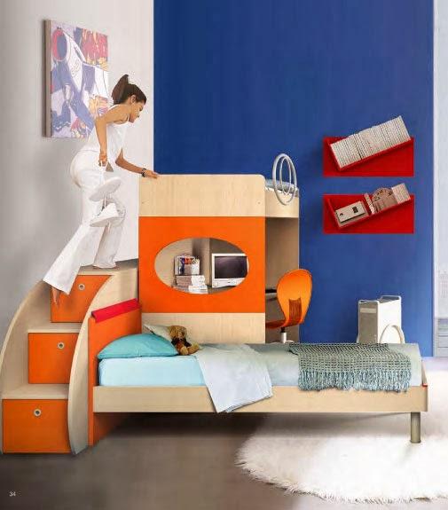 Dormitorios juveniles en espacios peque os decoraci n de - Dormitorios juveniles espacios pequenos ...