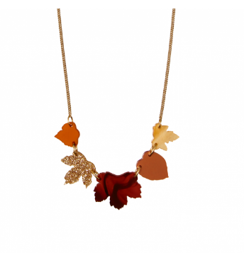 Autumn Leaves Necklace Perspex Jewellery Blog