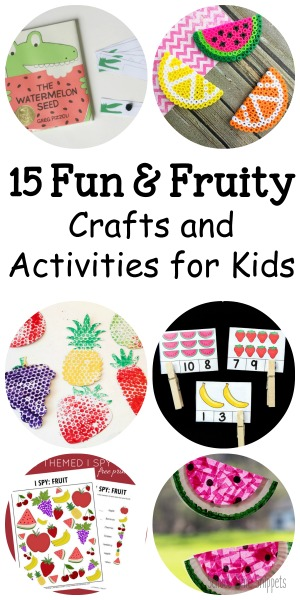 fruit kid crafts and activities