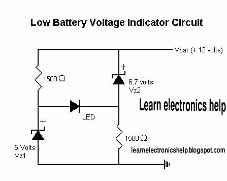 How to make a low battery indicator circuit ?Low battery