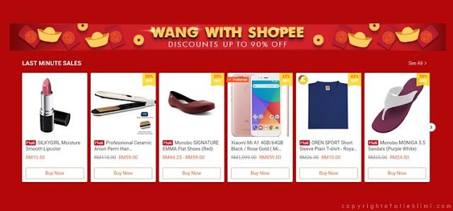 Potongan Harga Dan Promosi Hebat Sempena Kempen Wang Bersama Shopee Sekarang!!!