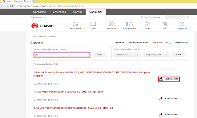 download software manualmente huawei