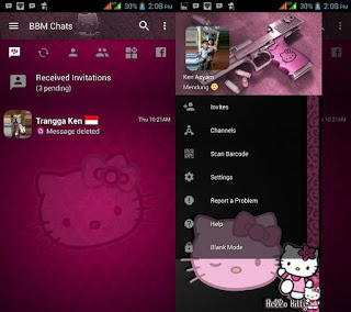 BBM Hello Kitty Dark Full DP Update Apk Terbaru