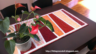 Camino de mesa Modern table runner