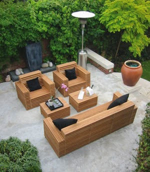furniture taman minimalis modern | desain rumah minimalis