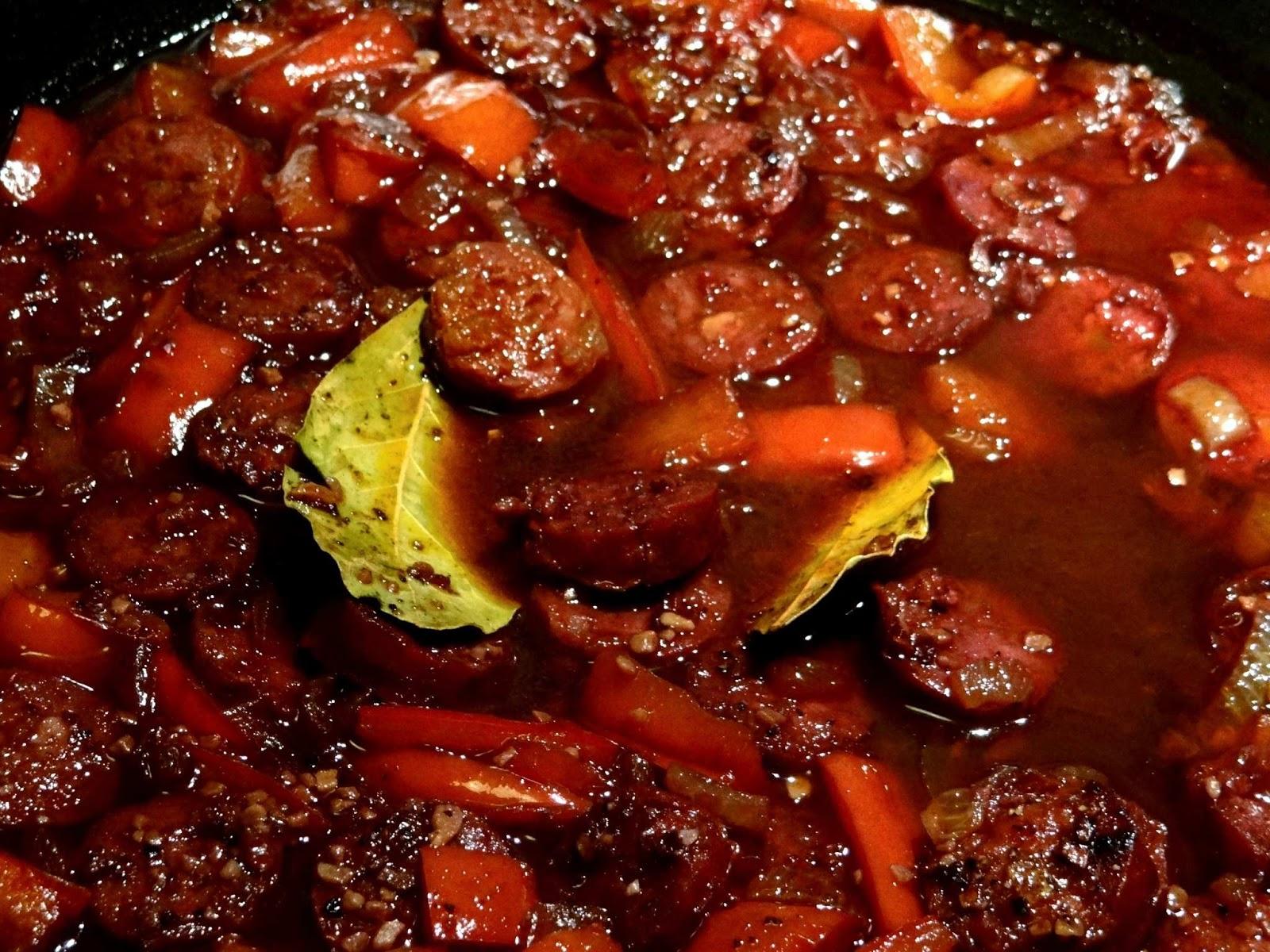 Sluttishly Savoury Chorizo In Red Wine Domestic Sluttery